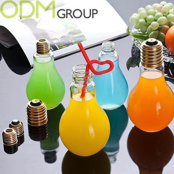 Creative Promo Idea For Beverages Light Bulb Drinking Glass