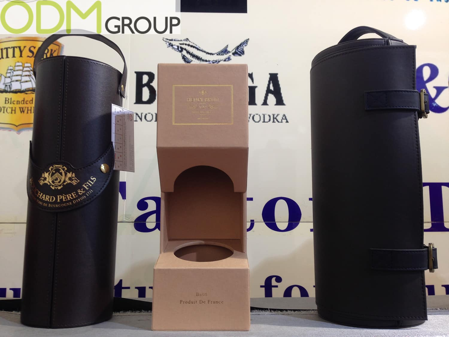 Custom Leather Packaging for Drinks Promotions
