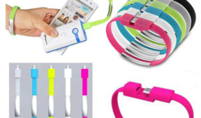 Custom USB bracelet with Power Bank Charge Cable