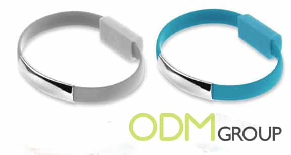 Custom Usb Bracelet With Bank Charge Cable