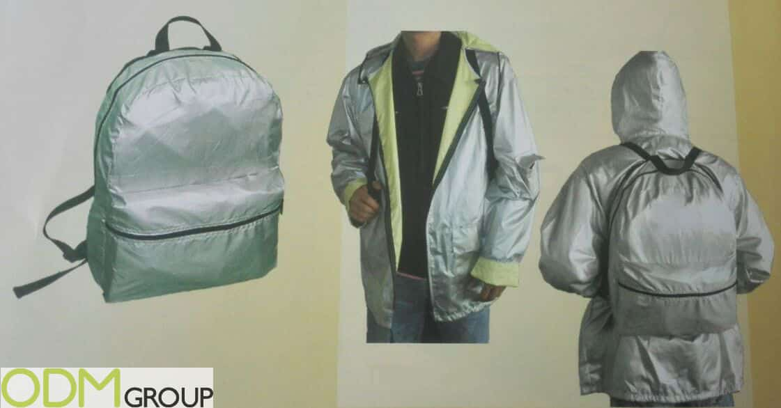 Keep Dry with this Branded Waterproof Jacket and Backpack Set