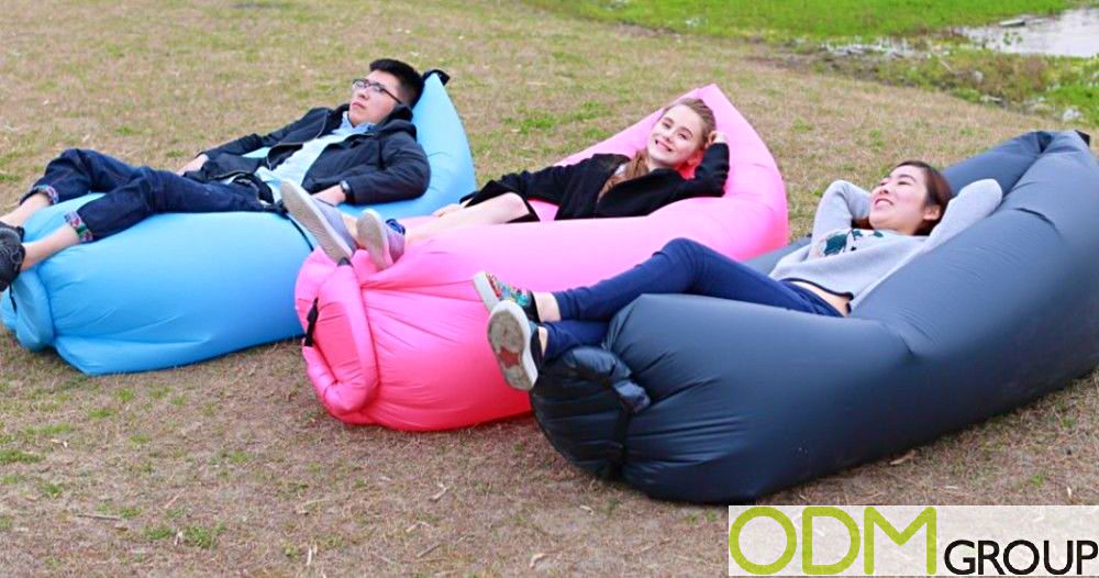 Lounge Happy on these Promo Inflatable Chairs
