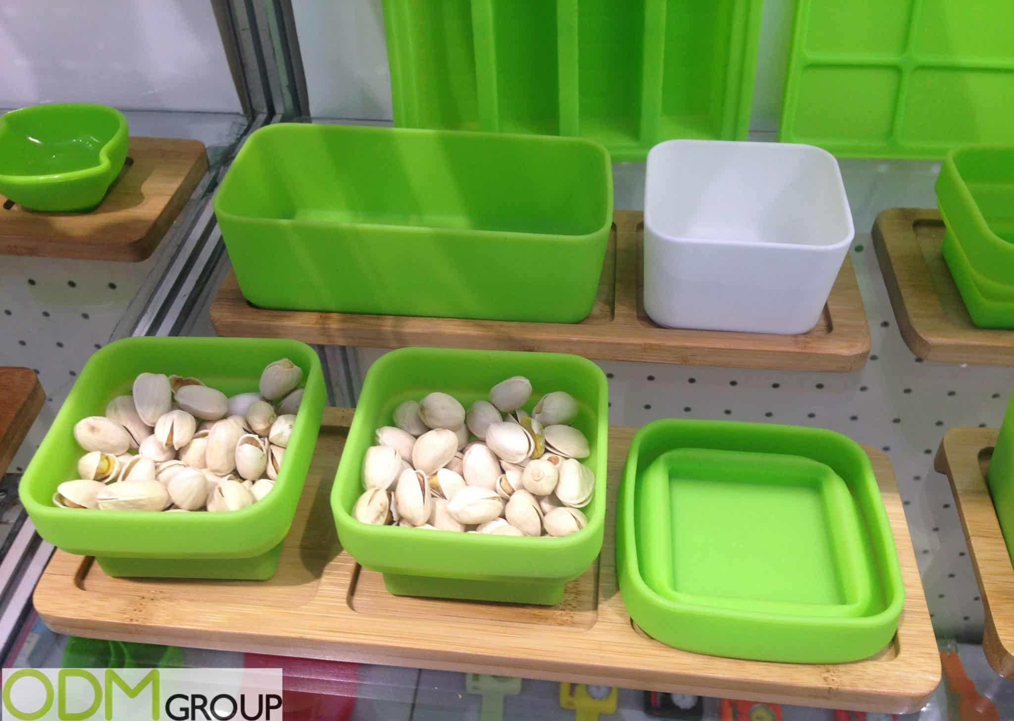 Promotional Kitchen Items - Silicone and Bamboo Serveware Sets