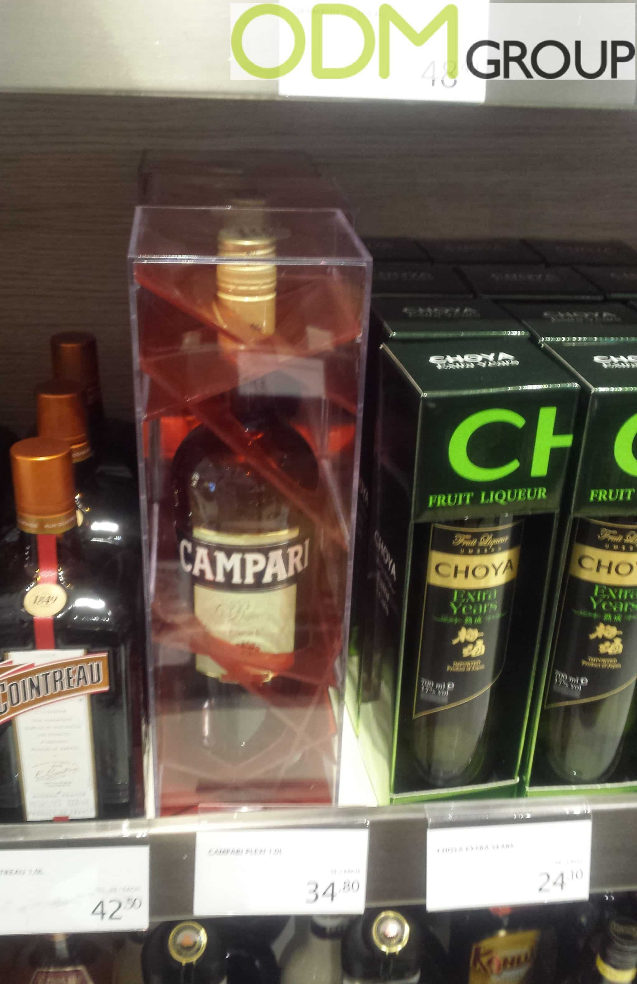Unique Custom Liquor Packaging by Campari