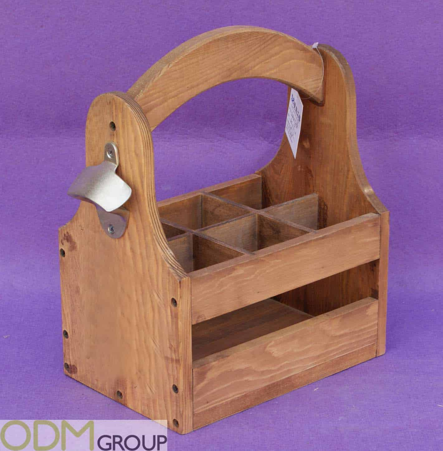Wooden Bottle Stands Perfect For a Drinks Promotion