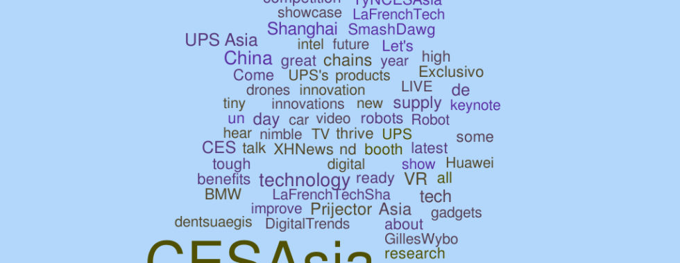 Event tracking on Twitter: Consumer Electronic Show Summer 2016 #CESasia