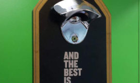 Beer Promo - Wooden Stand With Bottle Opener