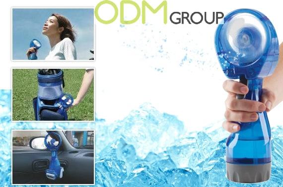 Cooling Promo Idea - Portable Water Spray Fan