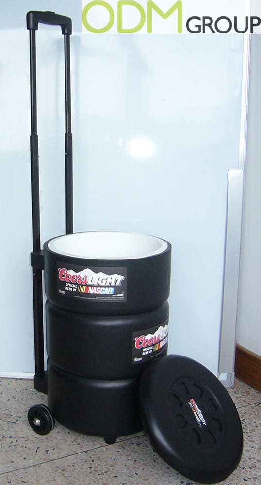 Promo Item for Automotive Industry - Custom Rolling CoolerPromo Item for Automotive Industry - Custom Rolling Cooler