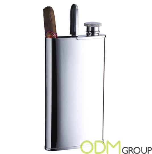 Promotion for Tobacco Industry - 2 in 1 Branded Hip Flask