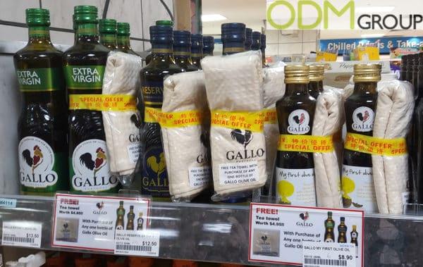 Branded Towel – Gallo Olive Oil Promotion