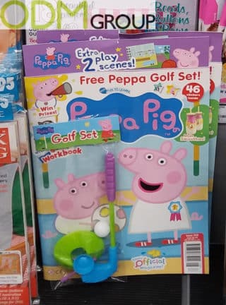 Covermount Gifts - Golf Set Toy from Peppa Pig