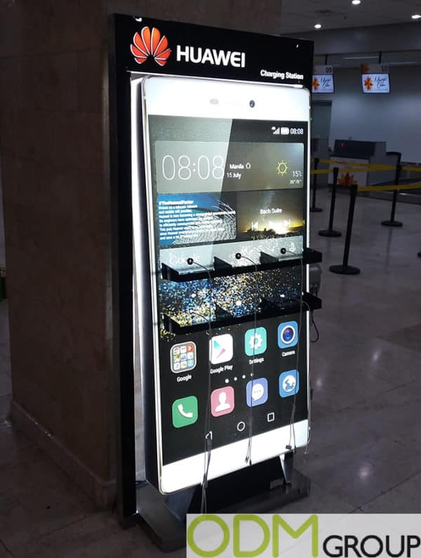 Advertising Idea from Huawei – Custom Charging Station