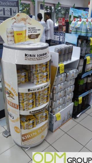 Custom In-store Beer Display by Kirin Ichiban