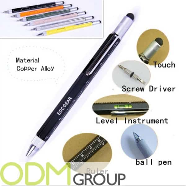 Multifunctional promo product - 6-in-1 Copper Alloy Pen