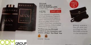 Premium Gift with Purchase Promo- Bvlgari Perfume