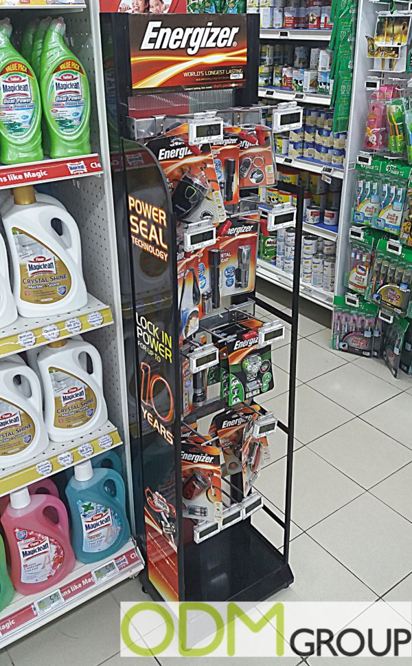 Energizer advertising by Custom Instore Display