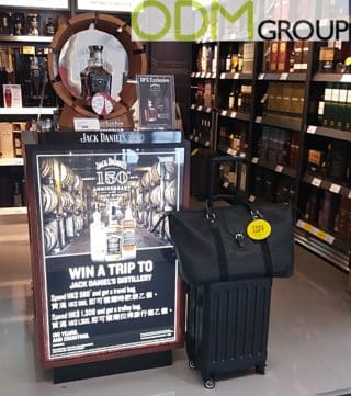 Free Gift: Promotional Luggage Bags by Jack Daniel's