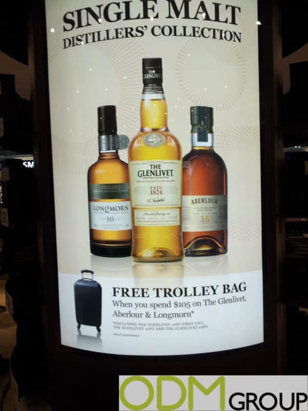 Marketing Campaign for Whiskey Brands - Free Trolley Bag