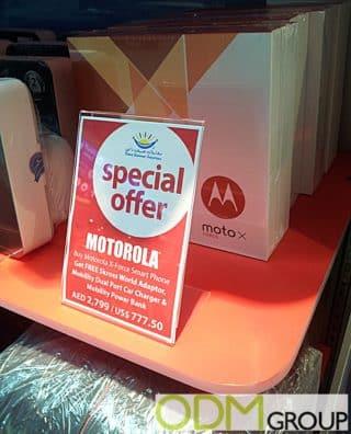 Motorola offers Duty Free Travel Promo Items