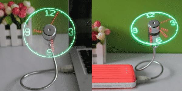 Office Promotional Gift – USB Clock Fan