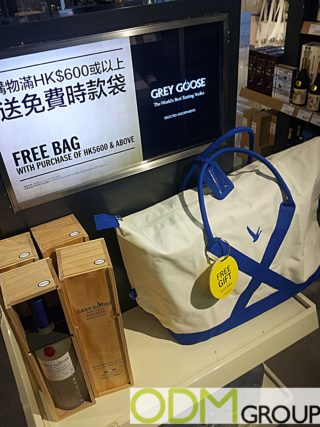 Free Branded Canvas Bag from Grey Goose
