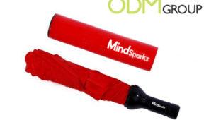 Wine Marketing - Bottle Shaped Custom Umbrella Mind Sparkz