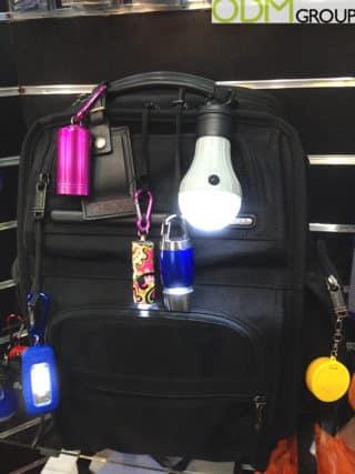 LED Branded Keychain Flashlight