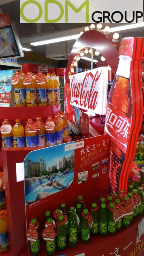 Coca Cola Instore Marketing with Unique POS Display