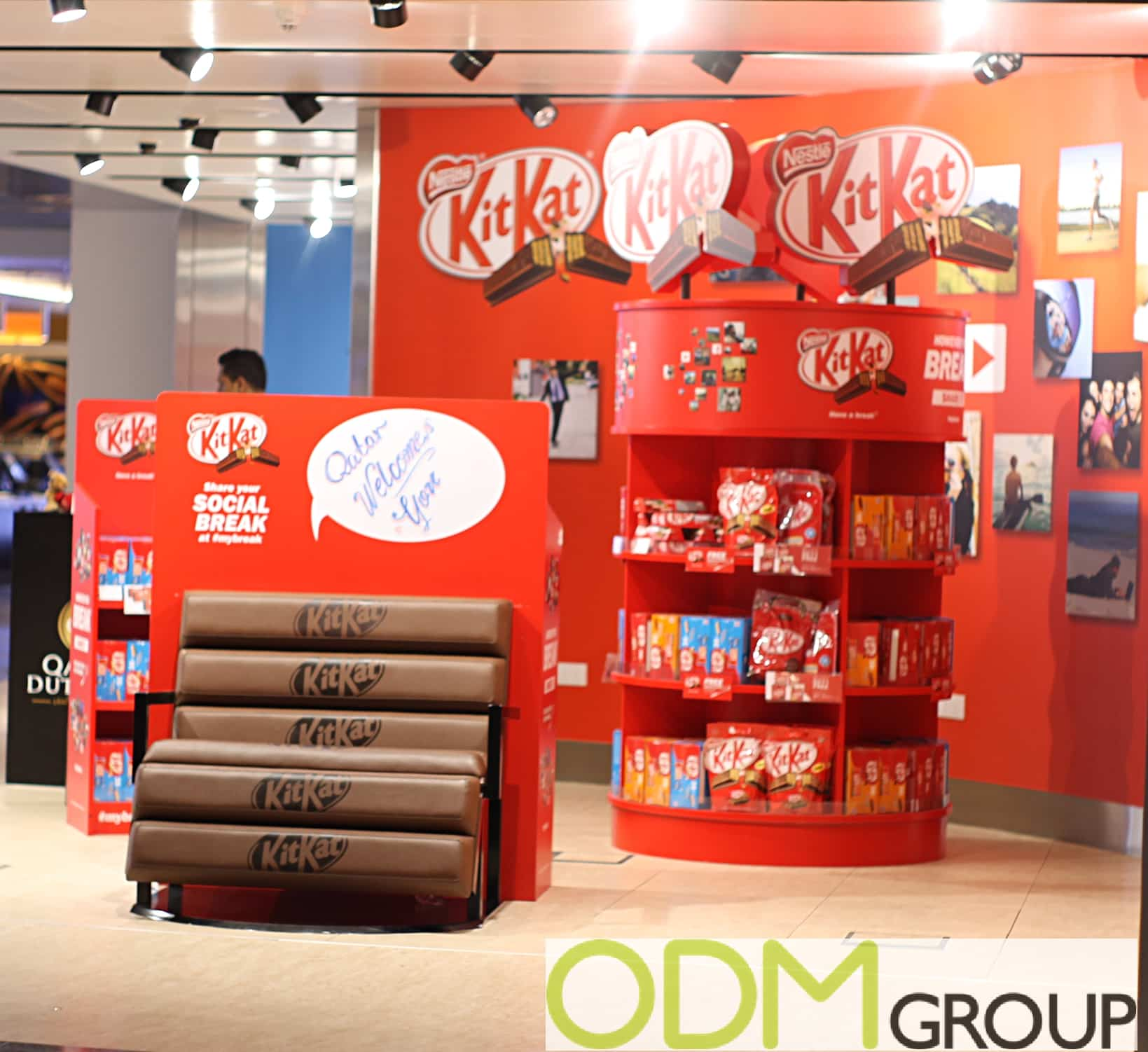Say It Creative Personalized Shop: Kit Kat Duty Free Advertising: Unique Instore Display