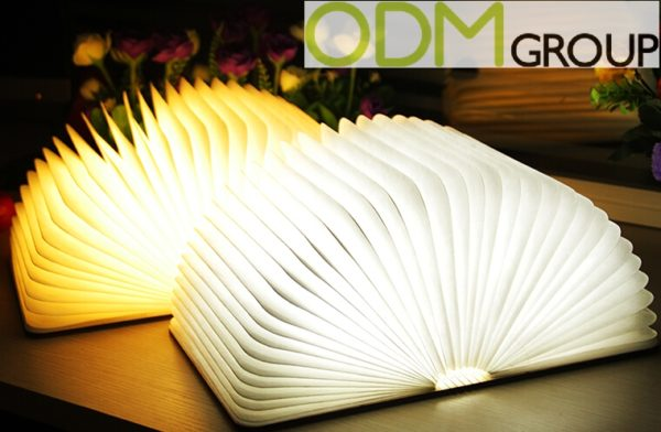New Promo Idea: Custom Lamp in Book Design