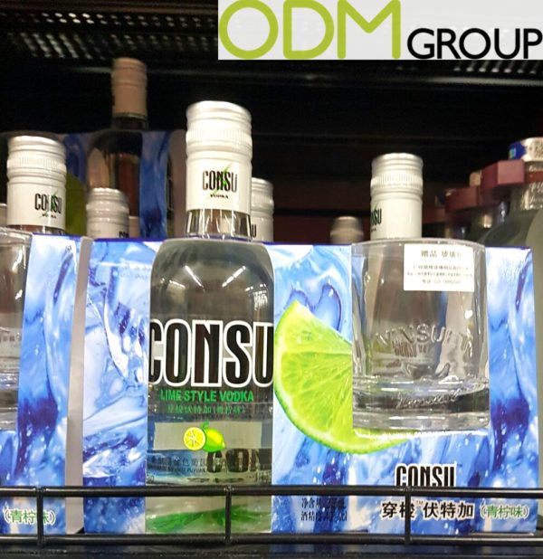On-pack Gift - Free Branded Vodka Glass by Consu