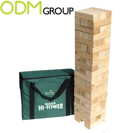 Promotional Games: Branded Giant Stacking Block Tower