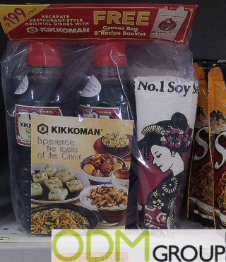 Two Branded Gifts Offered by Kikkoman as On-Pack Promotion
