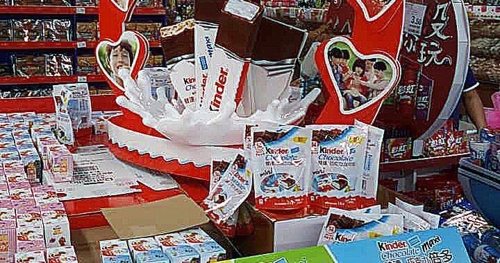 Unique POS Display by Kinder Chocolate
