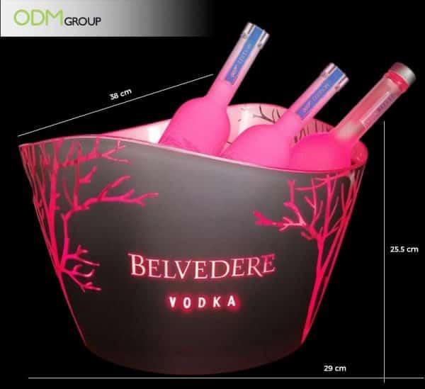 Branded light up ice bucket