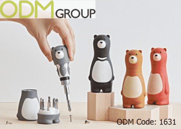 Custom Screw Driver Set in Bear Design for Children