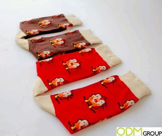 Chinese New Year Rooster Socks - Samples Ready