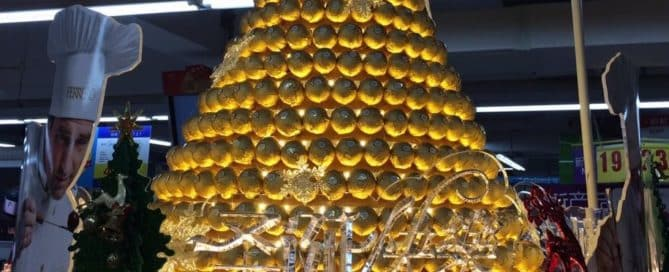 Unique Festive POS Display by Ferrero Rocher
