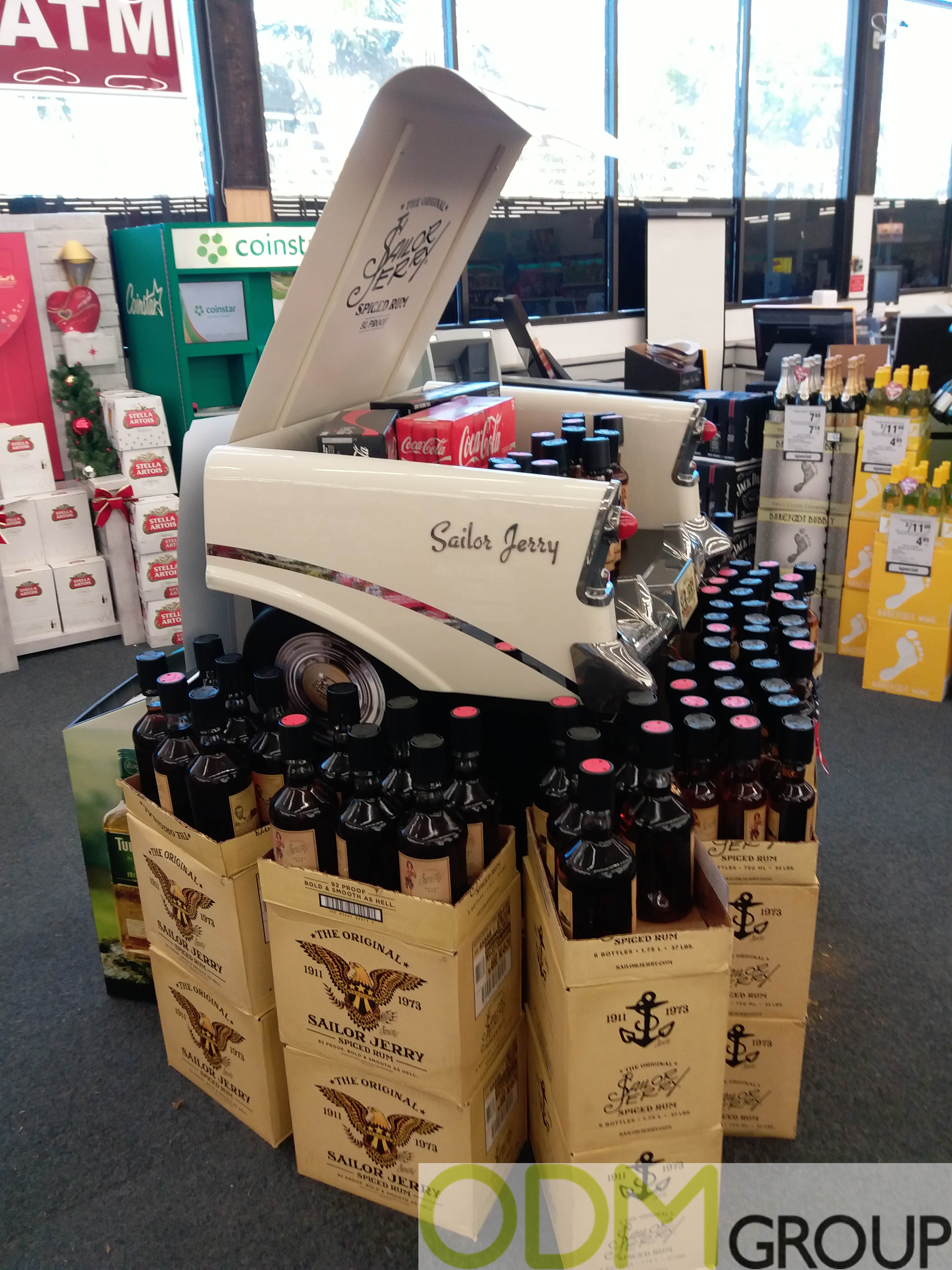 In-store Display - Vintage Car Display by Sailor Jerry