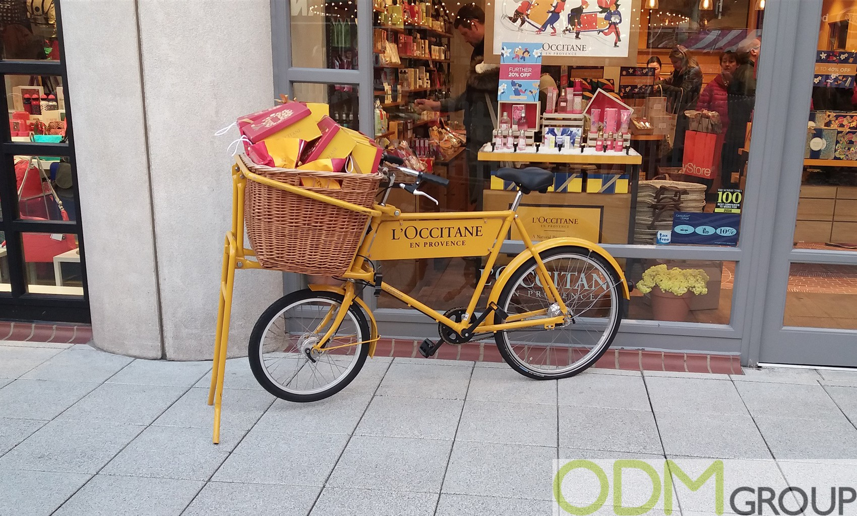 Bicycle POS Display – L'Occitane Promotional Strategy