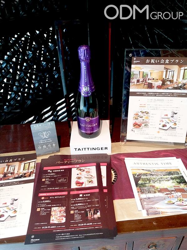 Champagne POS - Bottle Glorifier for Taittinger in Tokyo