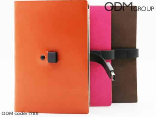 Custom Journal with Powerbank and USB