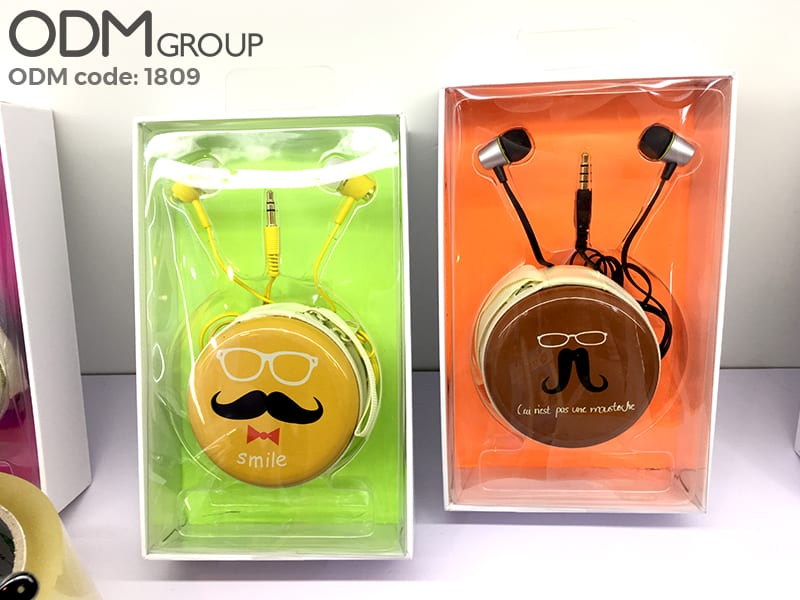 Earphones with Branded Pouch - Creative Promotional Product