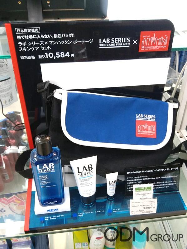 Marketing Displays by Lab Series Skincare in Tokyo