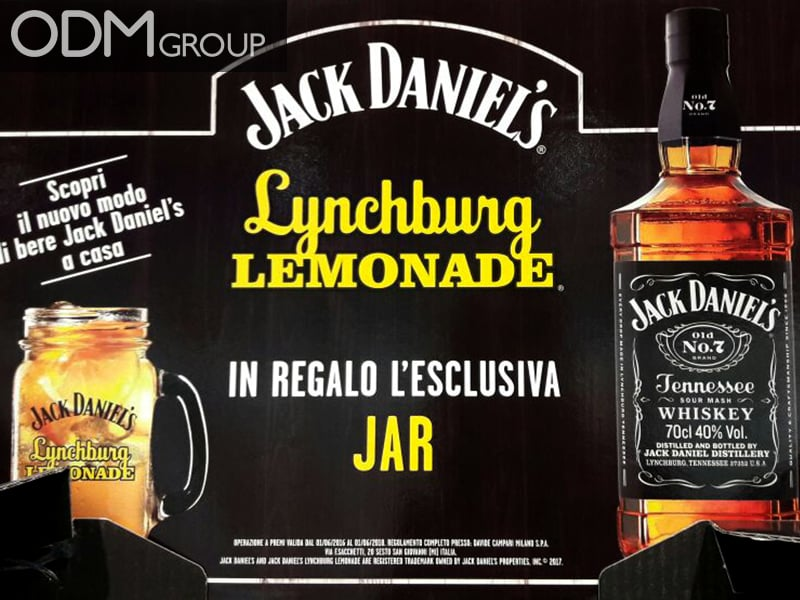 Branded Jar - Jack Daniel's GWP Idea For Drinks Industry