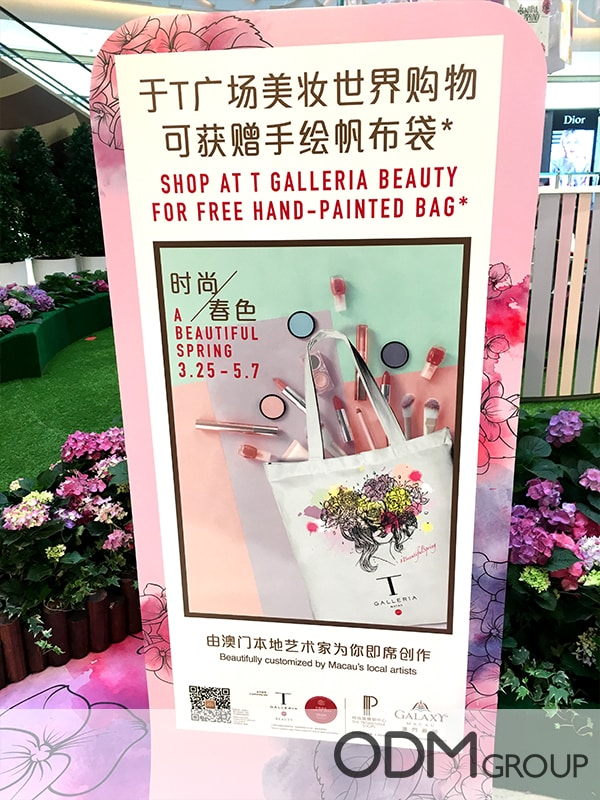 Hand-Printed Tote Bag for Beauty Promotion - GWP in Macau 1