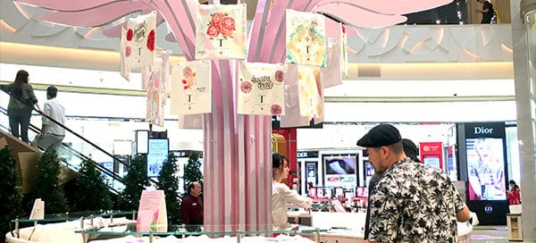 Hand-Printed Tote Bag for Beauty Promotion - GWP in Macau 2