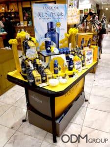 Custom Shopping Basket by L'Occitane for Instore Marketing