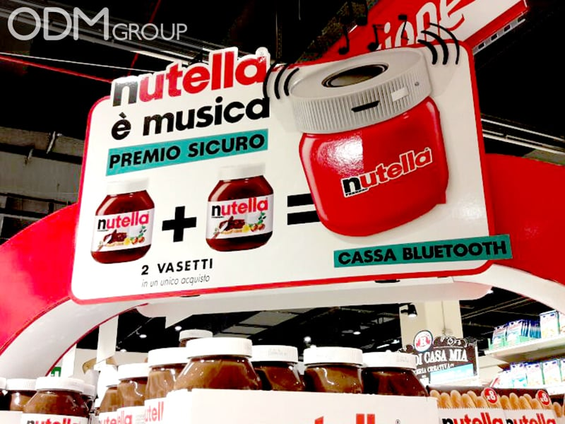 Nutella Custom Shaped Speaker - Gift With Purchase in Italy